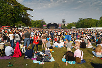 Pictured: General view of the crowd. Saturday 26 May 2018<br /> Re: BBC Radio 1 Biggest Weekend at Singleton Park in Swansea, Wales, UK.