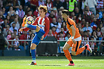 Atletico de Madrid's Antoine Griezmann and SD Eibar's David Junca Reñe during Liga Liga match between Atletico de Madrid and SD Eibar at Vicente Calderon Stadium in Madrid, May 06, 2017. Spain.<br /> (ALTERPHOTOS/BorjaB.Hojas)