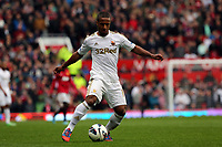 Pictured: Wayne Routledge. <br /> Sunday 12 May 2013<br /> Re: Barclay's Premier League, Manchester City FC v Swansea City FC at the Old Trafford Stadium, Manchester.