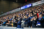 27.02.2019 Rangers v Dundee: Rangers fans with a minutes applause on 28 mins