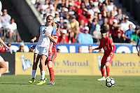 Cary, NC - Sunday October 22, 2017: Lindsey Horan during an International friendly match between the Women's National teams of the United States (USA) and South Korea (KOR) at Sahlen's Stadium at WakeMed Soccer Park. The U.S. won the game 6-0.