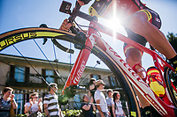 looking up to Ilia Koshevoy (BLR/Wilier Triestina-Selle Italia)<br /> <br /> Stage 15: Valdengo › Bergamo (199km)<br /> 100th Giro d'Italia 2017