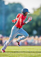 4 September 2016: Lowell Spinners outfielder Yoan Aybar in action against the Vermont Lake Monsters at Centennial Field in Burlington, Vermont. The Spinners defeated the Lake Monsters 8-3 in NY Penn League action. Mandatory Credit: Ed Wolfstein Photo *** RAW (NEF) Image File Available ***