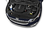 Car Stock 2015 KIA Sedona SX Limited 4 Door Minivan Engine high angle detail view