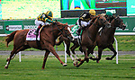 May 8, 2021: Channel Cat, ridden by John Velazquez, wins the 2021 running of the G1 Man O' War S. at Belmont Park in Elmont, NY. Sophie Shore/ESW/CSM
