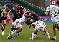 20th March 2021; Twickenham Stoop, London, England; English Premiership Rugby, Harlequins versus Gloucester; Harlequins, Gloucester; Joe Marler of Harlequins trying to take ball over the gain line