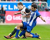 Deportivo Alaves' Manu Garcia (r) and Valencia CF's Santi Mina during La Liga match. October 28,2017. (ALTERPHOTOS/Acero) /NortePhoto.com