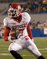 02 December 2006: Rutgers wide receiver Tiquan Underwood..The West Virginia Mountaineers defeated the Rutgers Scarlet Knights 41-39 in triple overtime on December 02, 2006 at Mountaineer Field, Morgantown, West Virginia. .