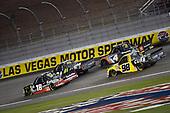 NASCAR Camping World Truck Series<br /> Stratosphere 200<br /> Las Vegas Motor Speedway, Las Vegas, NV USA<br /> Friday 2 March 2018<br /> Noah Gragson, Kyle Busch Motorsports, Toyota Tundra Safelite and Grant Enfinger, ThorSport Racing, Ford F-150 TBD<br /> World Copyright: Nigel Kinrade<br /> NKP / LAT Images