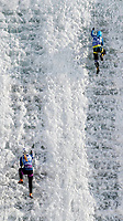 January 5th 2020, Changchun, China;  Valeriia Bogdan of Russia competes during for womens speed final at 2019-2020 UIAA International Climbing and Mountaineering Federation Ice Climbing World Cup at Lotus Mountain in Changchun, capital of northeast Chinas Jilin Province