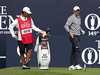 16th July 2021; Royal St Georges Golf Club, Sandwich, Kent, England; The Open Championship Tour Golf, Day Two; Rory McIlroy (NIR) with his caddie Harry Diamond on the first tee