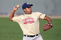 January 17, 2010:  Robert Rocamora (San Marcos, CA) of the Baseball Factory Southwest Team during the 2010 Under Armour Pre-Season All-America Tournament at Kino Sports Complex in Tucson, AZ.  Photo By Mike Janes/Four Seam Images