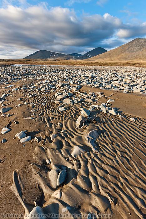Landscape along the Nigu River, Brooks Range, Arctic, National Petroleum Reserve, Alaska.