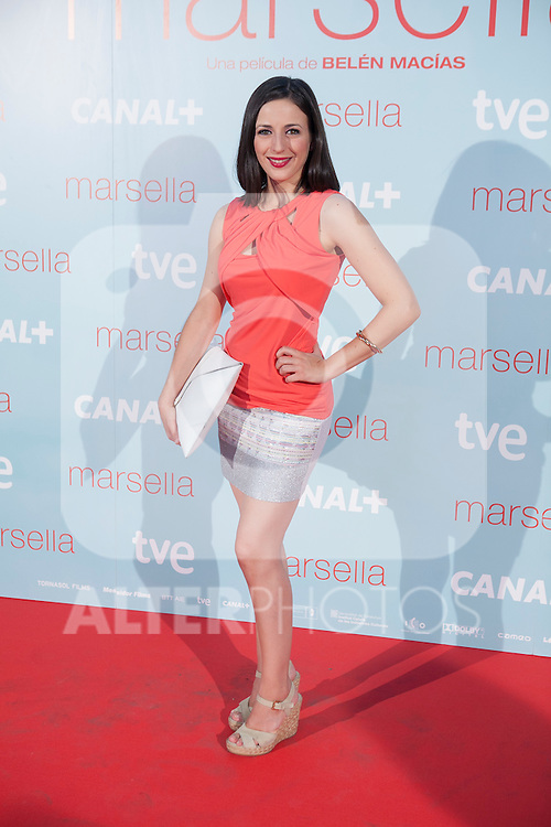 Luz Diaz poses at `Marsella´ film premiere photocall at Capital cinema in Madrid, Spain. July 17, 2014. (ALTERPHOTOS/Victor Blanco)