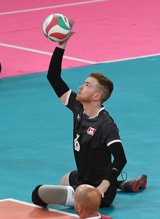 Bryce Foster, Lima 2019 - Sitting Volleyball // Volleyball assis.<br /> Canada competes in men's Sitting Volleyball // Canada participe au volleyball assis masculin. 24/08/2019.