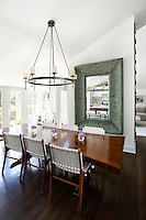 classic wooden dining area