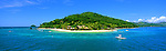 Castaway Island, Fiji Islands<br /> <br /> Image taken on large format panoramic 6cm x 17cm transparency. Available for licencing and printing. email us at contact@widescenes.com for pricing.