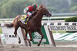 Birdrun, trained by Bill Mott and ridden by by Rajiv Maragh, wins the grade II Brooklyn Handicap at Belmont Park, Elmont, NY on June 10, 2011. (Joan Fairman Kanes/Eclipsesportswire)
