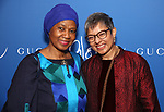 """Phumzile Mlambo-Ngeuka and guest attends the Opening Night Performance After Party for """"Gloria: A Life"""" on October 18, 2018 at the Gramercy Park Hotel in New York City."""