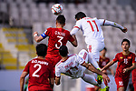 Que Ngoc Hai of Vietnam (L) competes for the ball with Vahid Amiri of Iran (L) during the AFC Asian Cup UAE 2019 Group D match between Vietnam (VIE) and I.R. Iran (IRN) at Al Nahyan Stadium on 12 January 2019 in Abu Dhabi, United Arab Emirates. Photo by Marcio Rodrigo Machado / Power Sport Images