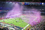 Confetti flies after the New England Patriots win Super Bowl LI at the NRG Stadium in Houston, Texas.