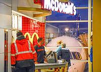 "Not the ""Drive Through,"" but the ""Fly Through."" DCA. The order went like this: ""I need 125 hamburgers for coach class, and 16 cheeseburgers for first!"""