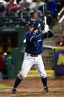 Ben Theriot (23) of the Northwest Arkansas Naturals at bat during a game against the Springfield Cardinals on May 13, 2011 at Hammons Field in Springfield, Missouri.  Photo By David Welker/Four Seam Images.