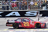 2017 NASCAR Xfinity Series<br /> My Bariatric Solutions 300<br /> Texas Motor Speedway, Fort Worth, TX USA<br /> Saturday 8 April 2017<br /> Erik Jones, Game Stop/ GAEMS Toyota Camry, celebrates after winning the Xfinity race in Texas.<br /> World Copyright: John K Harrelson/LAT Images<br /> ref: Digital Image 17TEX1jh_02877