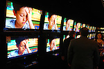 A wall of flat screen televisions at the new Gallery Furniture location at 2411 Post Oak  Wednesday March 11, 2009. (Dave Rossman/For the Chronicle)