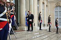 JEAN-YVES LE DRIAN (MINISTRE DE L'EUROPE ET DES AFFAIRES ETRANGERES) - LE PRESIDENT EMMANUEL MACRON RECOIT LE PRESIDENT EGYPTIEN ABDEL FATTAH AL-SISSI AU PALAIS DE L'ELYSEE A PARIS, FRANCE, LE 24/10/2017.