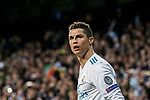 Cristiano Ronaldo of Real Madrid looks on during the UEFA Champions League 2017-18 Round of 16 (1st leg) match between Real Madrid vs Paris Saint Germain at Estadio Santiago Bernabeu on February 14 2018 in Madrid, Spain. Photo by Diego Souto / Power Sport Images