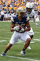 Pitt wide receiver Rafael Araujo-Lopes. The Pitt Panthers football team defeated the Georgia Tech Yellow Jackets 24-19 on September 15, 2018 at Heinz Field in Pittsburgh, Pennsylvania.
