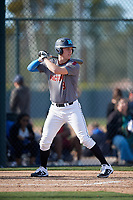 Austin Hallman during the Under Armour All-America Pre-Season Tournament, powered by Baseball Factory, on January 19, 2019 at Fitch Park in Mesa, Arizona.  Austin Hallman is an outfielder / right handed pitcher from Huntington Beach, California who attends Marina High School and is committed to George Fox University.  (Mike Janes/Four Seam Images)