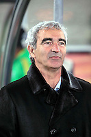 Raymond Domenech coach of France before game against Mexico
