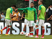 Mexico City, Mexico - Sunday June 11, 2017: Orbelín Pineda, El Tri, Mexico during a 2018 FIFA World Cup Qualifying Final Round match with both men's national teams of the United States (USA) and Mexico (MEX) playing to a 1-1 draw at Azteca Stadium.