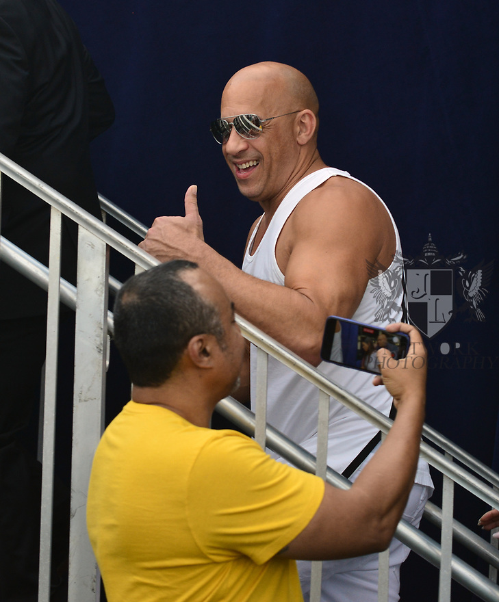 HALLANDALE BEACH, FL - JANUARY 25: Vin Diesel, at the 2020 Pegasus World Cup Championship Invitational Series at Gulfstream Park - David Grutman's LIV Stretch Village on January 25, 2020 in Hallandale Beach, Florida.  ( Photo by Johnny Louis / jlnphotography.com )