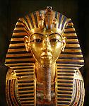 King Tutankhamun gold funerary mask, New Kingdom