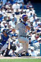 Angel Pagan of the Chicago Cubs during a game from the 2007 season at Dodger Stadium in Los Angeles, California. (Larry Goren/Four Seam Images)
