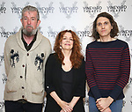 "Director Les Waters, actress Deirdre O'Connell and playwright Lucas Hnath during the cast photo call for the Vineyard Theatre Production of Dana H."" at the Vineyard Theatre Rehearsal Studios on February 4, 2020 in New York City."