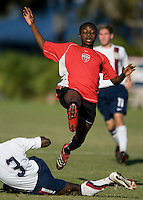 Vardar player and USA's Kofi Sarkodie (3). 2007 Nike Friendlies, which are taking place from Dec. 6-9 at IMG Academies in Bradenton, Fla.