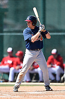 Atlanta Braves catcher Tyler Tewell (17) during a minor league spring training game against the Washington Nationals on March 26, 2014 at Wide World of Sports in Orlando, Florida.  (Mike Janes/Four Seam Images)
