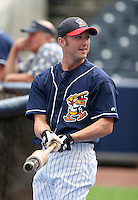 Infielder Ryan Raburn of the Toledo Mudhens during warmups before the Triple-A All-Star Game at Fifth Third Field on July 12, 2006 in Toledo, Ohio.  (Mike Janes/Four Seam Images)