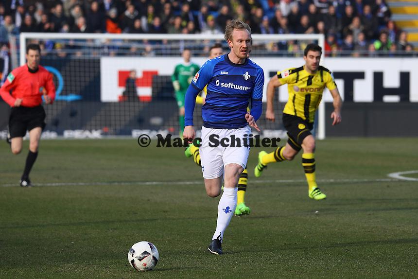 Jan Rosenthal (SV Darmstadt 98)- 11.02.2017: SV Darmstadt 98 vs. Borussia Dortmund, Johnny Heimes Stadion am Boellenfalltor