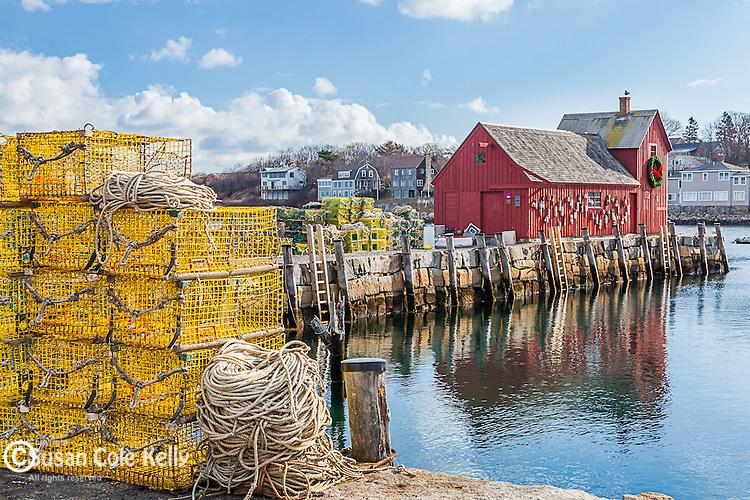 Motif #1, the red fishing shack on Bradley Wharf in Rockport, Massachusetts, USA
