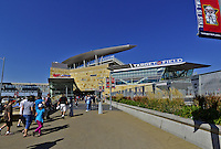 29 September 2012: Minnesota Twins fans arrive at Target Field prior to a game against the Detroit Tigers at Target Field in Minneapolis, MN. The Tigers defeated the Twins 6-4 in the second game of their 3-game series. Mandatory Credit: Ed Wolfstein Photo