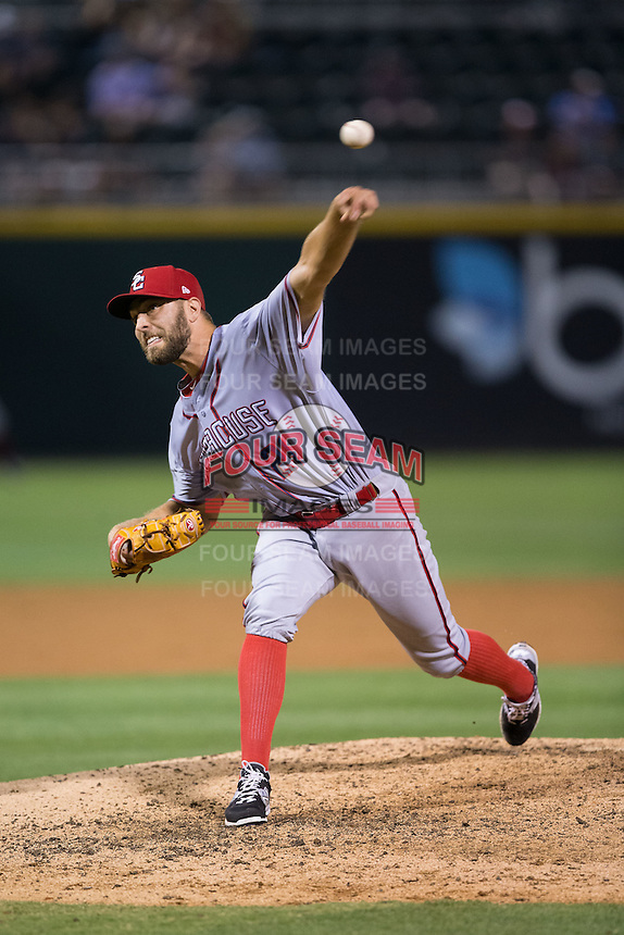 Syracuse Chiefs relief pitcher Matt Grace (21) in action against the Charlotte Knights at BB&T BallPark on June 1, 2016 in Charlotte, North Carolina.  The Knights defeated the Chiefs 5-3.  (Brian Westerholt/Four Seam Images)
