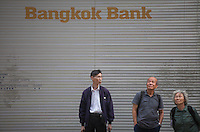 An exterior shot of the Bangkok Bank, Central district, Hong Kong, China, 28 April 2014.