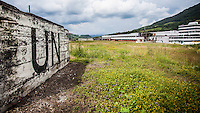 07.06.2013, Potocari ( Srebrenica ) Bosnia Herzegovina<br /> Memorial Center. <br /> La base delle forze ONU olandesi vista dal Memorial center . <br /> L'esercito Serbo, comandato da Ratko Mladic, nel 1995 ha massacrato a Srebrenica circa 8.000 tra uomini e ragazzi Musulmani, la piu' grande atrocita' commessa in Europa dalla seconda guerra mondiale. <br /> Foto Insidefoto / EXPA/ Juergen Feichter