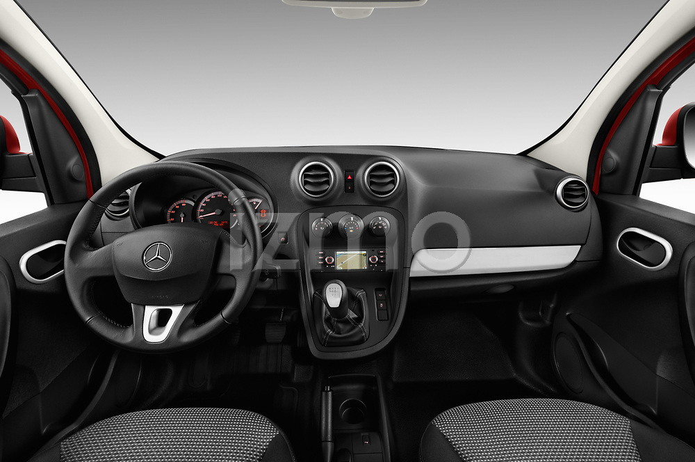 Stock photo of straight dashboard view of a 2018 Mercedes Benz Citan Perfect Tool 4 Door Panel Wagon