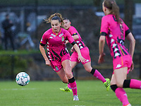 Renate-Ly Mehevets (15) of Sporting Charleroi in action during a female soccer game between Sporting Charleroi and White Star Woluwe on the 7 th matchday in play off 2 of the 2020 - 2021 season of Belgian Scooore Womens Super League , friday 14 th of May 2021  in Marcinelle , Belgium . PHOTO SPORTPIX.BE | SPP | Sevil Oktem